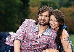 Марина Александрова с мужем для Hello!
