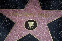 Звезда Кристофа Вальца на Аллее славы в Голливуде