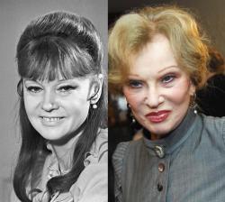 Людмила Гурченко в 1973 году и 2009 году