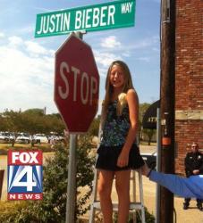 Улица в честь Джастина Бибера