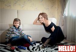 Альбина Джанабаева с сыном в журнале HELLO!