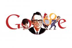 Леонид Гайдай на праздничном логотипе Google