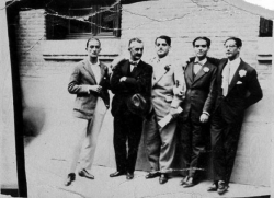 Сальвадор Дали, Морено Вилья, Луис Буньюэль, Федерико Гарсиа Лорка и Хосе Антонио Рубио Сакристан, 1926 год