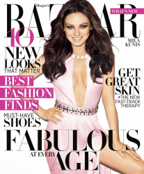 Мила Кунис в Harper's Bazaar