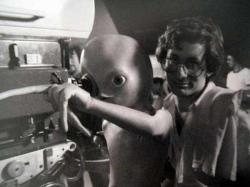 """Стивен Спилберг на съемках фильма """"Близкие контакты третьей степени"""", 1977 год"""