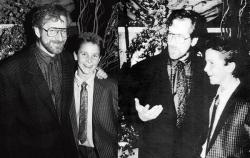 "Стивен Спилберг и Кристиан Бэйл на премьере фильма ""Империя Солнца"", 1987 год"