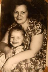 Екатерина Вилкова в детстве