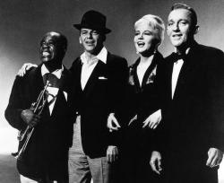 Легенды американского джаза - Луи Армстронг, Фрэнк Синатра, Пегги Ли, Бинг Кросби, 1956 год