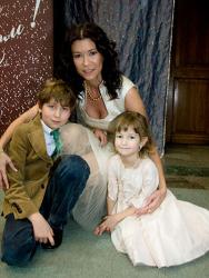 Ольга Слуцкер и дети