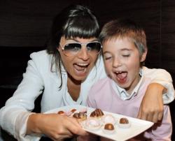 Оксана Робски с сыном Иосифом
