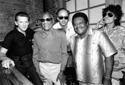 Джерри Ли Льюис, Рэй Чарльз, Пол Шаффер, Фэтс Домино и Ронни Вуд, 1986 год