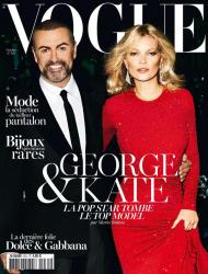 Кейт Мосс и Джордж Майкл в фотосессии Марио Тестино для журнала Vogue Paris