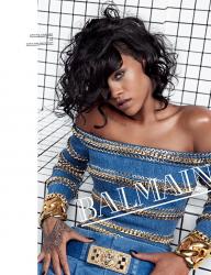 Рианна в фотосессии для рекламной кампании бренда Balmain, весна-лето 2014
