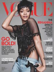 Рианна в фотосессии Дэвида Симса для Vogue US, март 2014