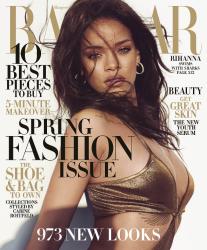 Рианна в опасной фотосессии для журнала Harper's Bazaar, март 2015