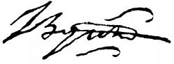 Автограф Джорджа Байрона