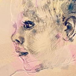Инна Цимбалюк нарисовала свою дочь