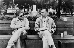 "Роберт Земекис и Том Хэнкс на съемках фильма ""Форрест Гамп"", 1994 год"