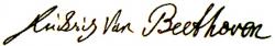 Автограф Людвига ван Бетховена