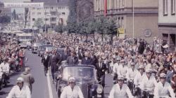 Джон Кеннеди во время визита в Берлин, 1963 год