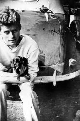 Джон Кеннеди и его собака Данкер, 1937 год