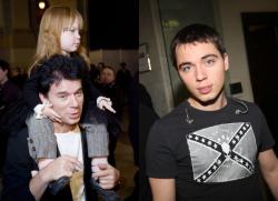 Олег Газманов с дочерью Марианной и сыном Родионом