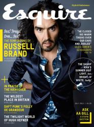 Рассел Брэнд в июльском номере журнала Esquire UK
