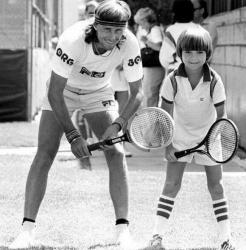 Бьорн Борг и юный Андре Агасси в Лас-Вегасе, 1979 год