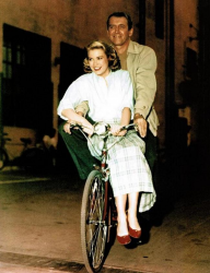 "Грейс Келли и Джеймс Стюарт на съемках фильма ""Окно во двор"", 1953 год"