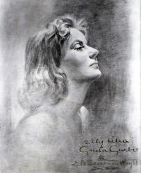 Автограф  Греты Гарбо