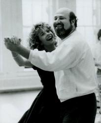 """Мег Райан и режиссер Роб Райнер на съемках фильма """"Когда Гарри встретил Салли"""", 1988 год"""