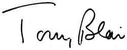 Автограф Тони Блэра