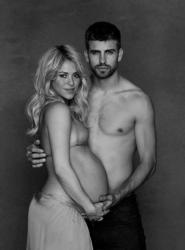 Беременная Шакира и Жерар Пике