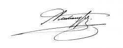 Автограф Александра III