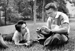 Элизабет Тейлор и Джеймс Дин, 1955 год