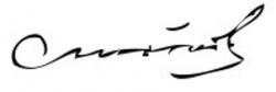 Автограф Юрия Андропова