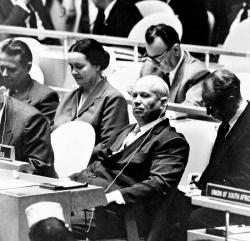 Никита Хрущев на Генеральной ассамблее ООН, 1960 год