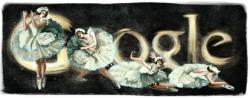 Анна Павлова на праздничном логотипе Google