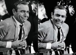 """Шон Коннери на съемках фильма """"Голдфингер"""", 1964 год"""
