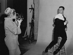 """Типпи Хедрен и Шон Коннери во время съемок фильма """"Марни"""", 1963 год"""