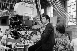 "Джон Траволта на съемках фильма ""Бриолин"", 1977 год"