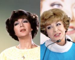 Эдита Пьеха в 1980 году и 2007 году