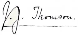Автограф Джозефа Джона Томсона