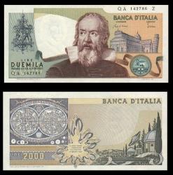 Галилео Галилей на бонах и почтовых марках