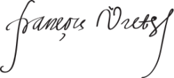 Автограф Франсуа Виета