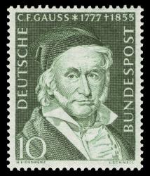 Карл Фридрих Гаусс на почтовых марках