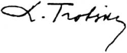 Автограф Льва Троцкого