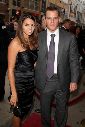 Мэтт Дэймон с женой
