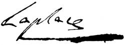 Автограф Пьер-Симона Лапласа