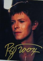 Автограф Дэвида Боуи